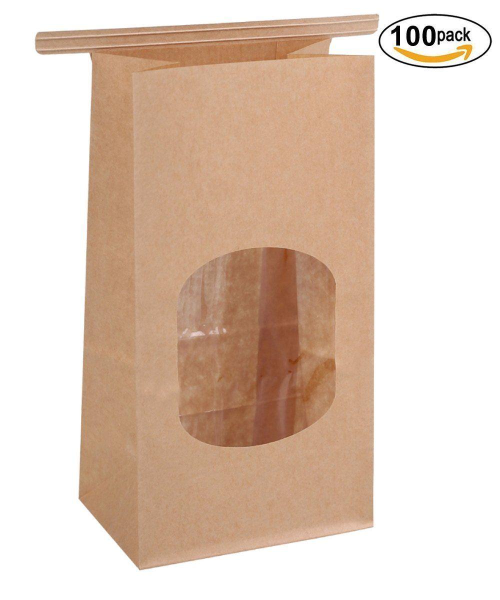 Bagdream bakery bags with window wax kraft