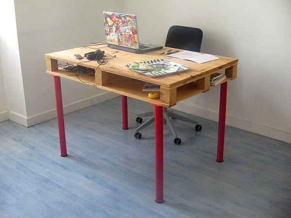 escritorio infantil hecho con pallets diy