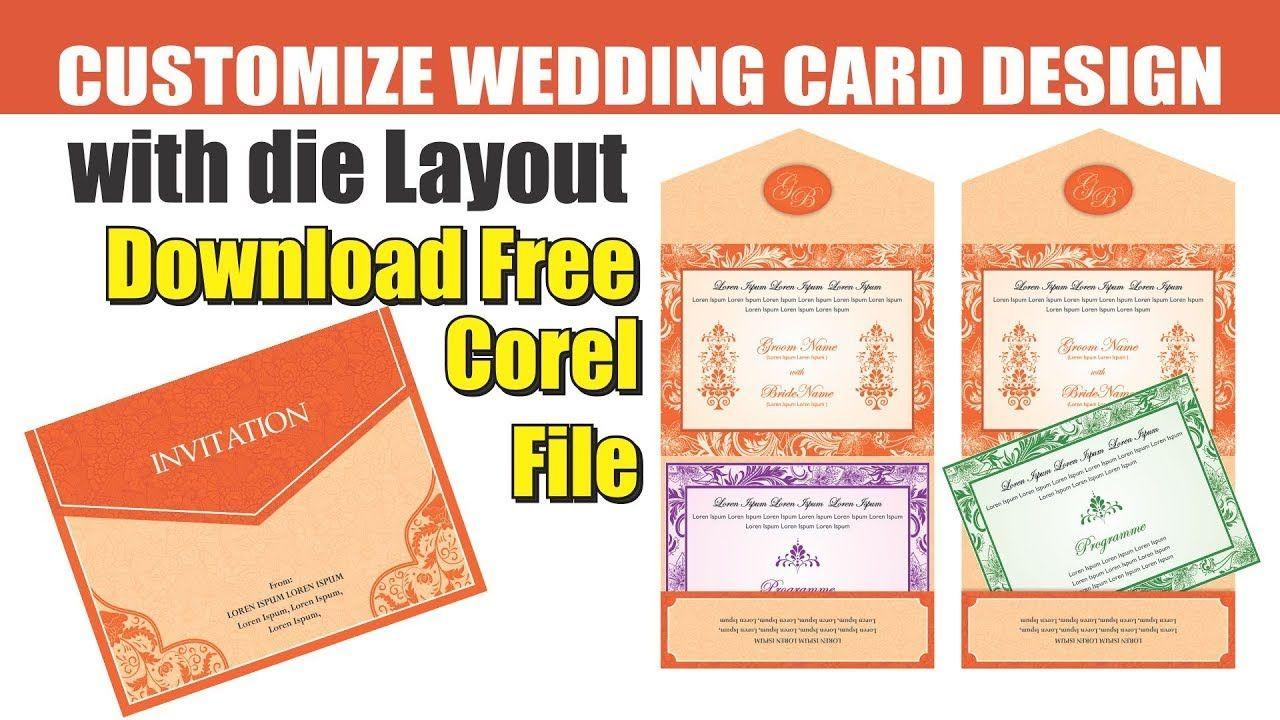 Wedding Card With Die Layout 3 In Corel Cdtfb Corel