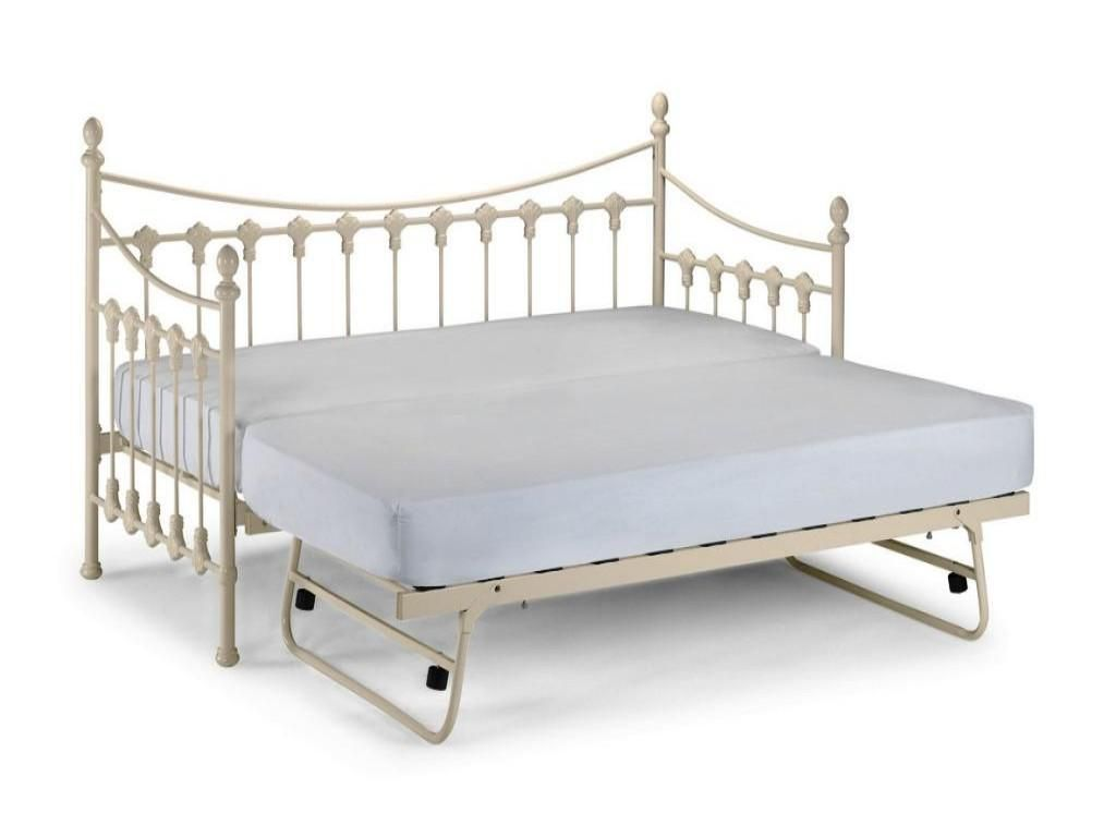 Use white metal twin size day bed daybed frame with pop for White metal twin bed frame