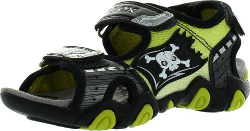 Geox Boys Kids Sandal Strike Light Up Skull Fashion Sport
