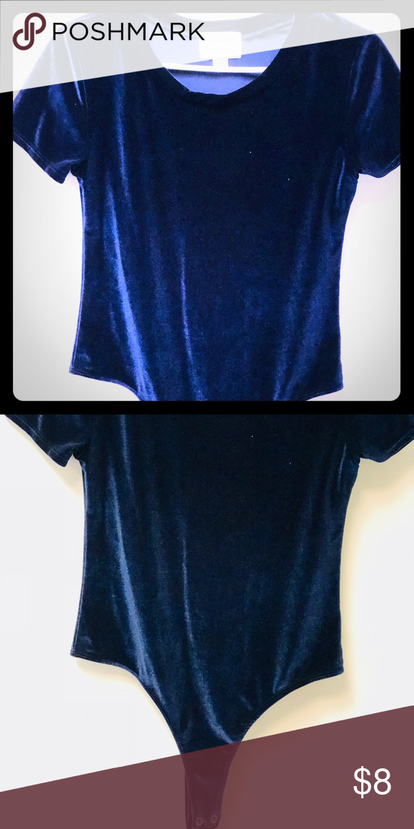10dfc43ae4f211 Velvet onesie navy blue. Velvet onesie. Worn once to a birthday party!  madison berkeley Tops