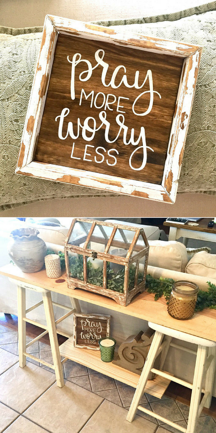 Pray more worry less sign christian sign baptism gift pray more worry less sign christian sign baptism gift confirmation gift first negle Images