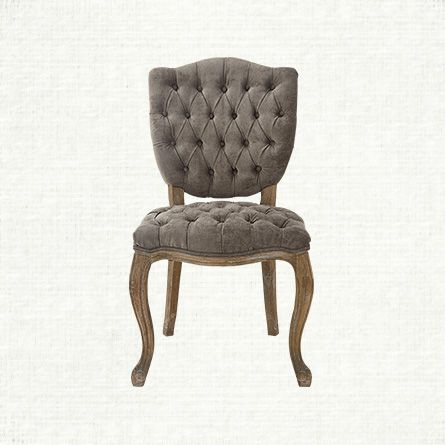 Ava Upholstered Dining Side Chair In Elizabeth Platinum And Antique Natural