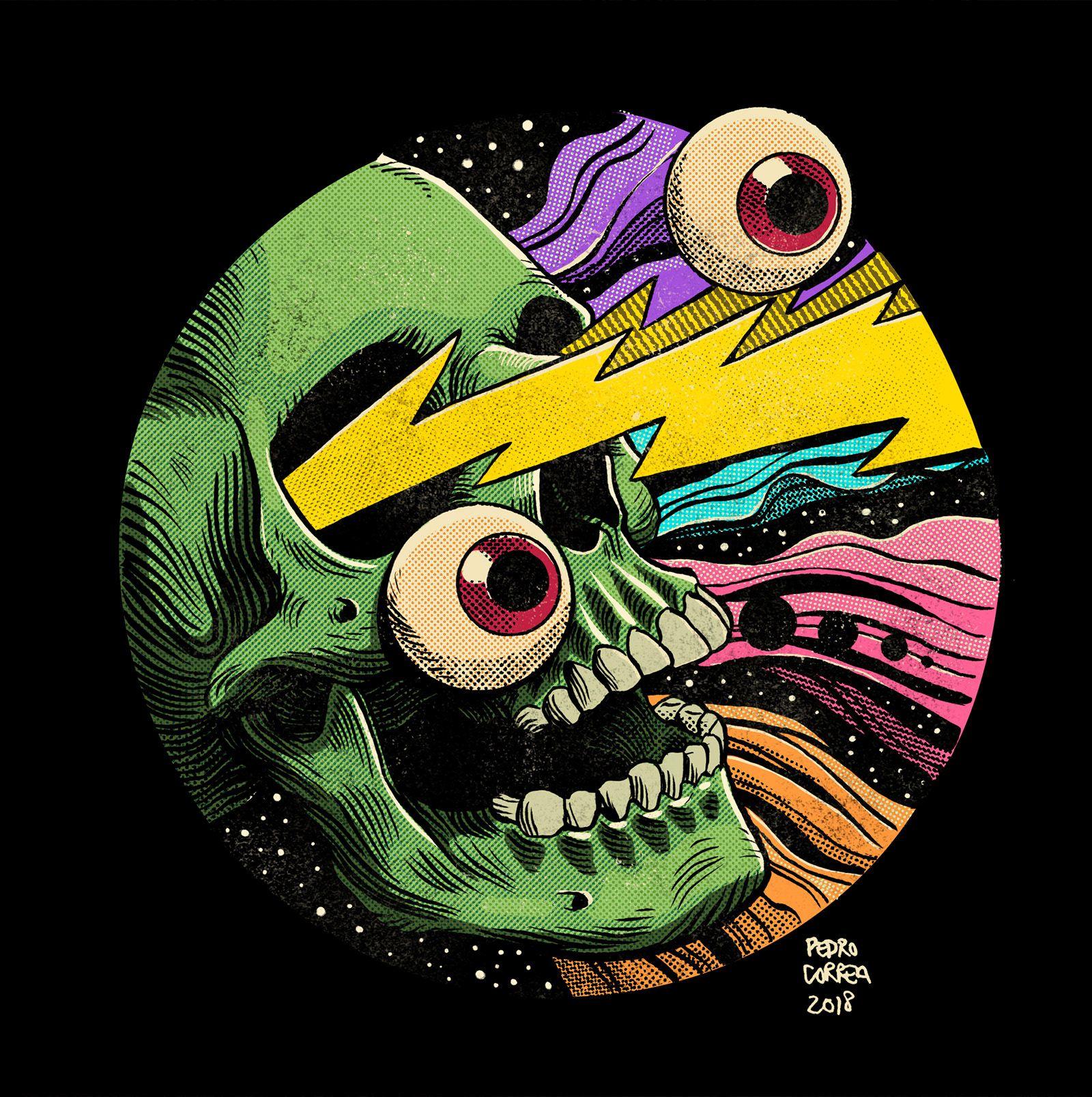 Pedro Correa Illustrator - Cosmic Eyeballs Pedro C
