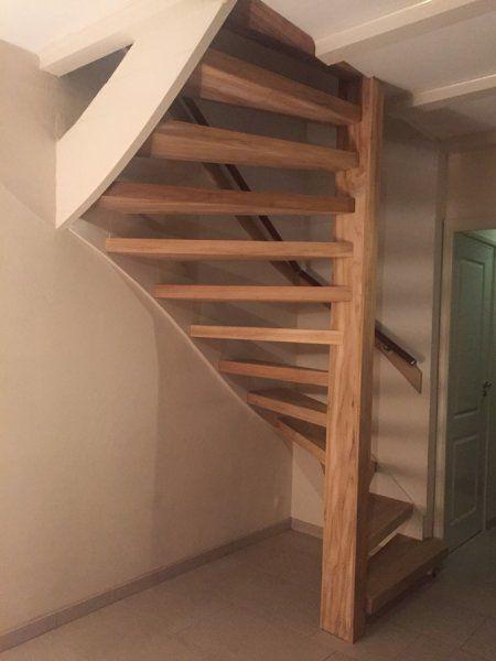 Open trap renovatie met teak hout uitgevoerd door wortman for Open trap renovatie