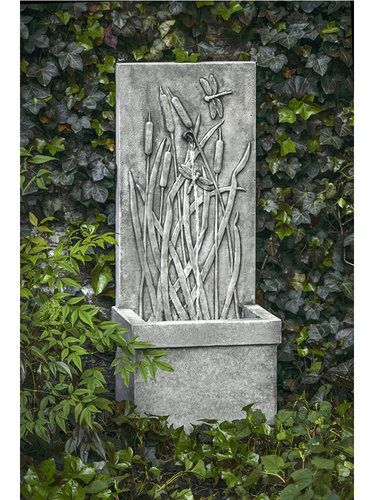 Campania International FT 196Garden Fountains: Dragonfly Wall Fountain