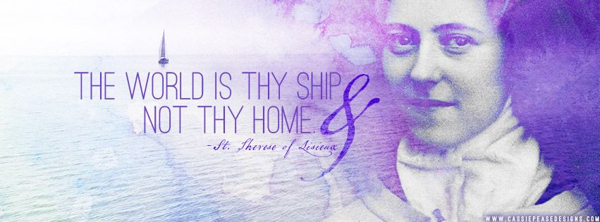 St Therese Of Lesuix Cover Photo Wallpaper Background Art Cassiepease Saint Catholic Quote Faith Cover Photo Quotes Facebook Cover Photos Cover Photos