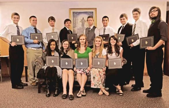 Sixteen Local Students Were Honored Sunday At The Church Of Jesus Christ Latter Day