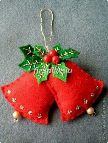 Campanitas Navidad Pinterest Navidad, Fieltro y Adornos
