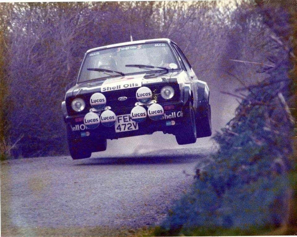 Black ford escort sport