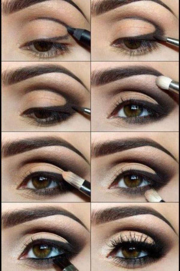 Maquillaje de Victoriau0027s Secret en ojos ahumados Fotos de moda