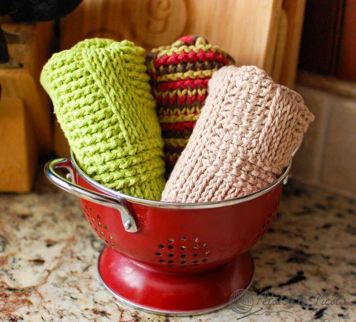 Tunisian Crochet Dish Drying Mat Pattern | Pinterest | Waschlappen ...