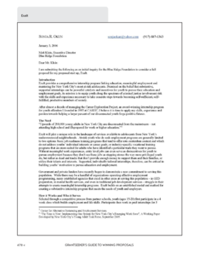 Letter of Inquiry from Exalt to Blue Ridge Foundation Fundraisers