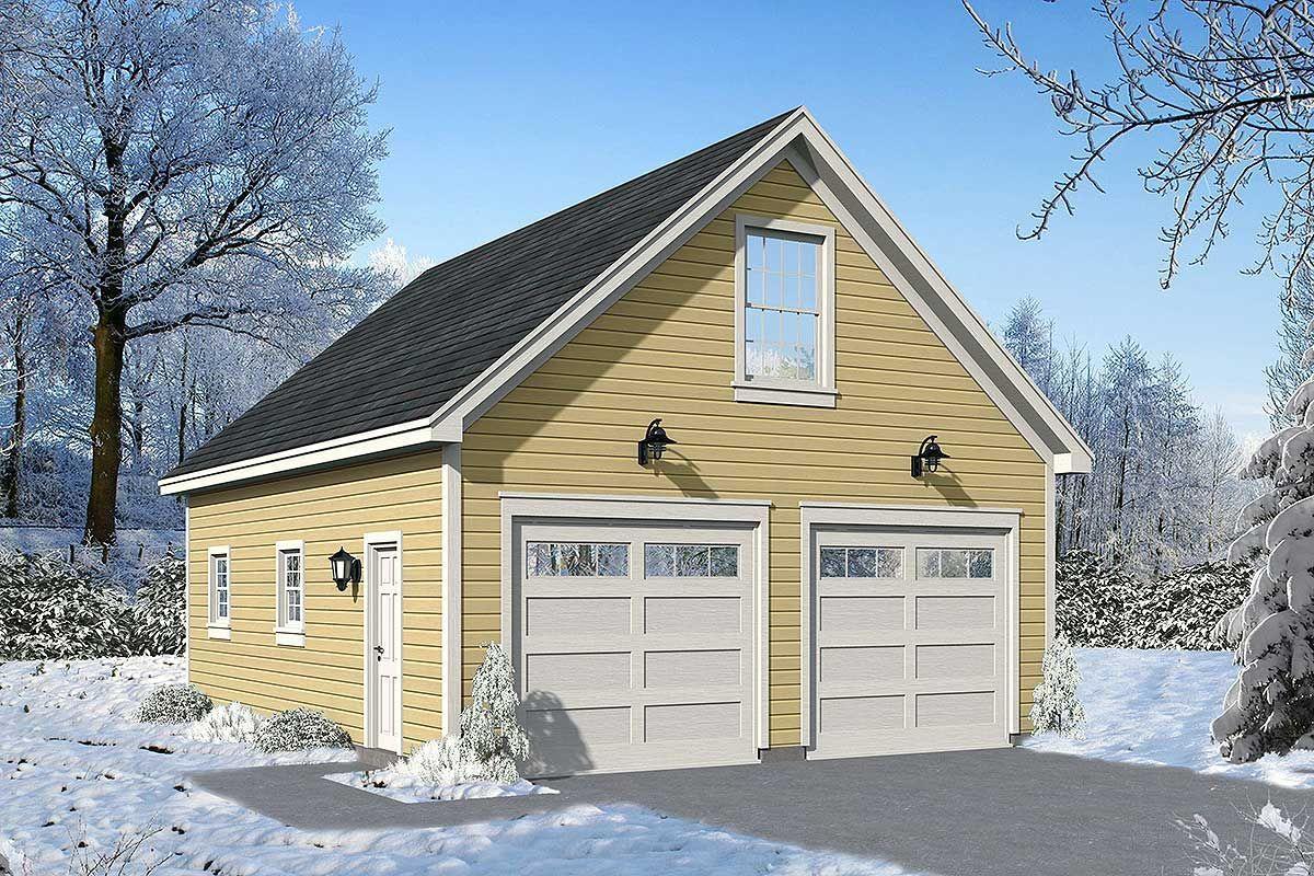 Plan 68517VR: Detached Garage Plan With Upstairs Loft #garageplans