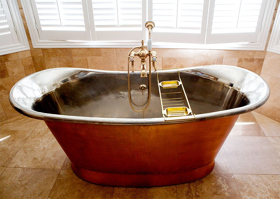 so jealous of heather armstrong\'s giant copper soaking tub. want ...