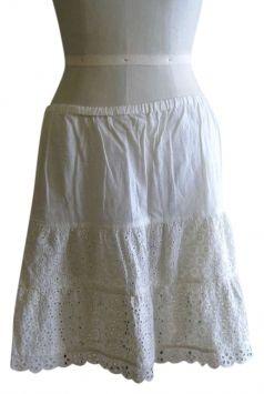 307918856 White Eyelet Bohemian Cotton Eyelet Skirt | Tradesy | Eyelet skirt ...