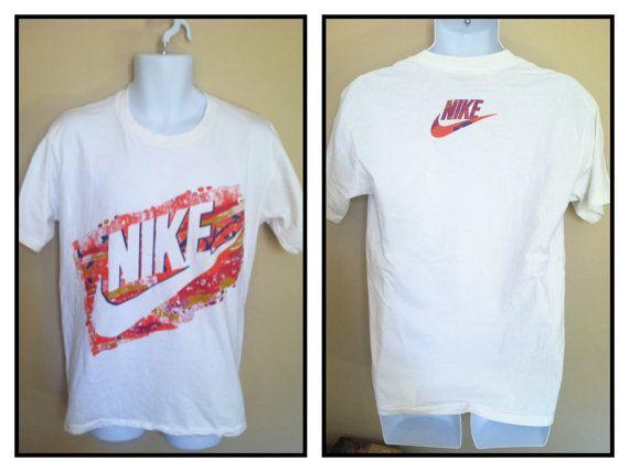 4dd4ffe976b47 Vintage 90's NIKE GREY TAG 2 Sided Swoosh Tshirt by sweetVTGtshirt ...