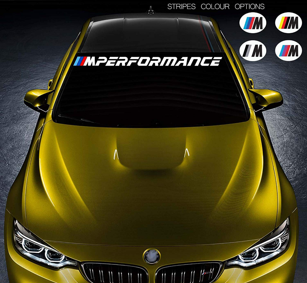 For Bmw M Performance Weatherproof Vinyl Car Window Sticker Decal Easy To Apply Remove Gloss Bumper Windshield Banner Designs By Bmw Performance Cars Car [ 922 x 1000 Pixel ]