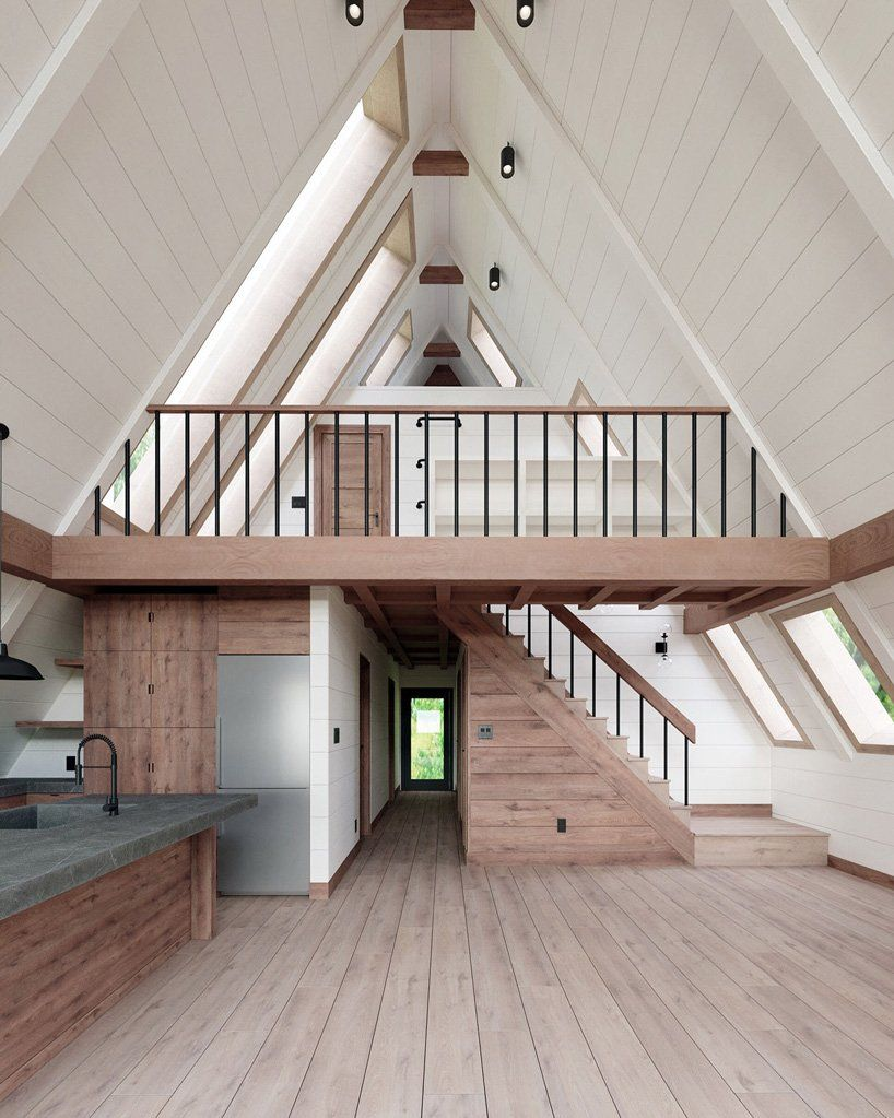 Photo of AYFRAYM is an affordable A-frame 'cabin-in-a-box' concept