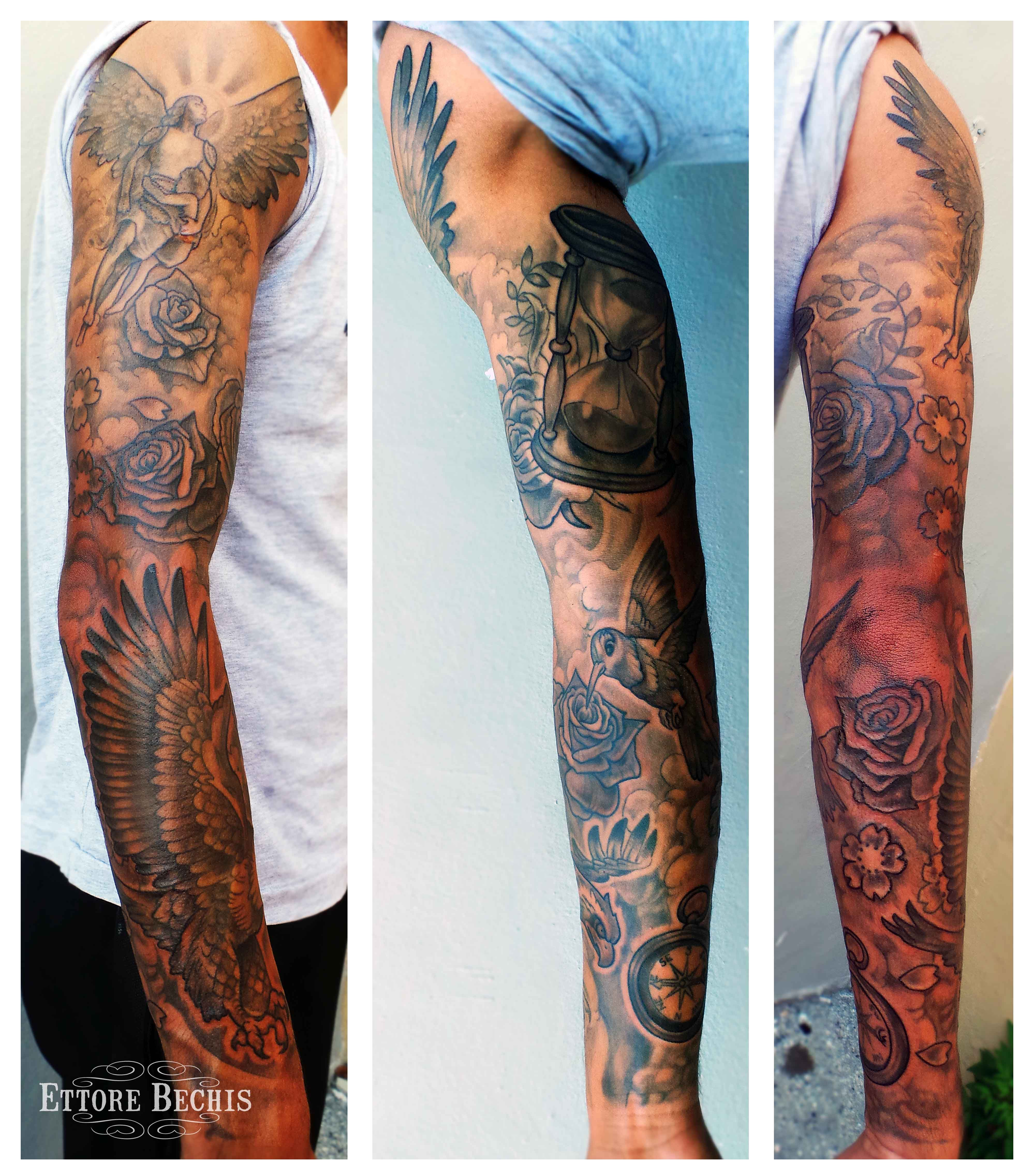 Www Ettore Bechis Best Miami Tattoo Full Sleeve