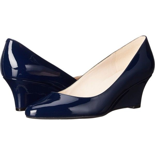 Womens shoes wedges, Navy patent shoes