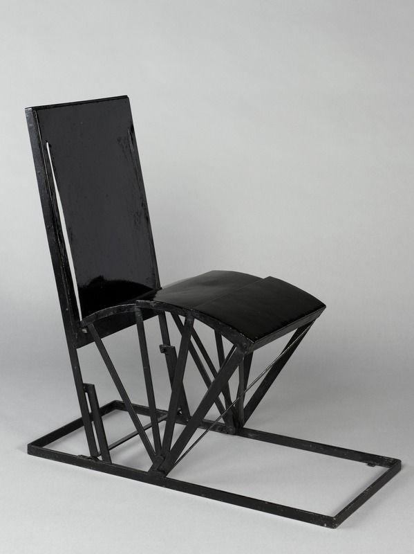 Pierre Chareau 1883 1950 Chaise Pliante Modele Mc763 1927 Metal Peint Noir 75 X 80 X 36 Cm Chaise De Jar Chaise Pliante Mobilier De Salon Chaise De Jardin