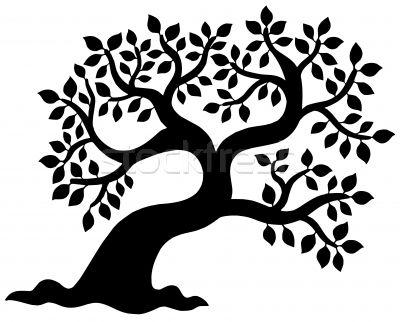 Stockfoto - boom · silhouet · vector · bos · natuur · ontwerp ...
