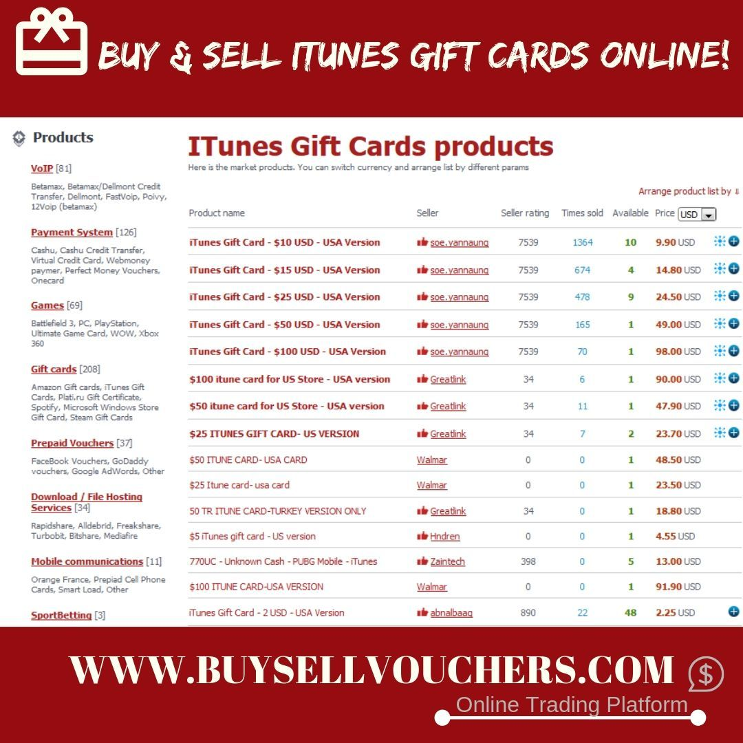 Buy Or Sell Itunes Gift Cards Online! #ItunesGiftCard