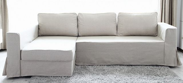 Ikea Manstad Sofa Bed Custom Linen Slipcover Comfort Works Custom Sofa Slipcovers Ikea Sofa Bed Custom Sofa