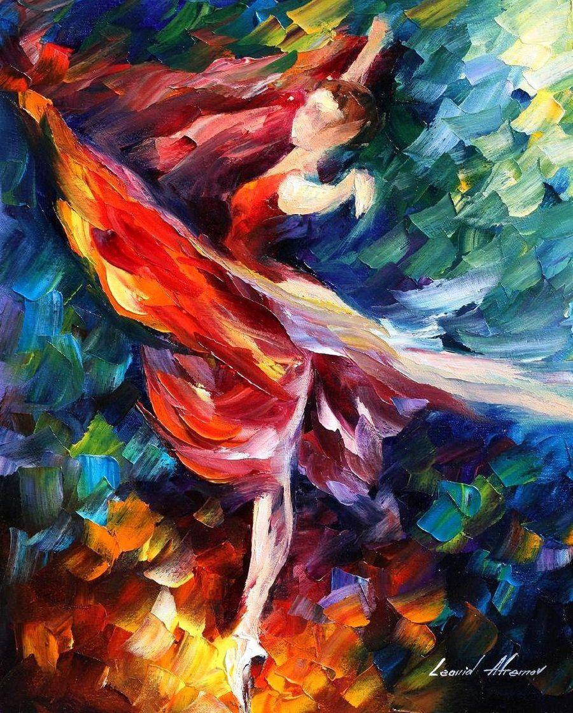 Leonid Afremov Tancerka Malarstwo Obrazy Farba Olejna Obrazy