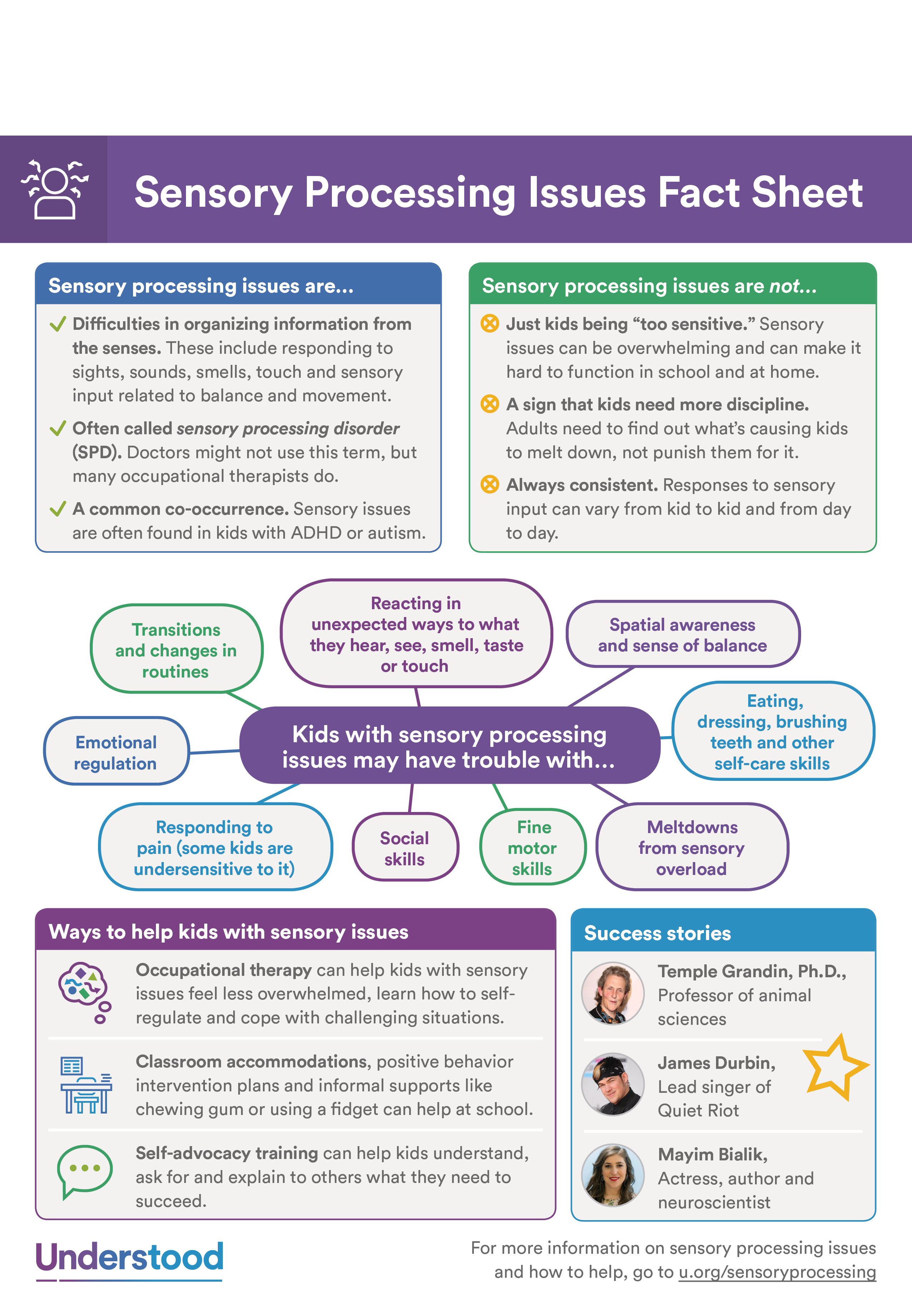 Sensory Processing Issues Fact Sheet Behavior Support, Parent Resources,  Learning Disabilities, Sensory Rooms