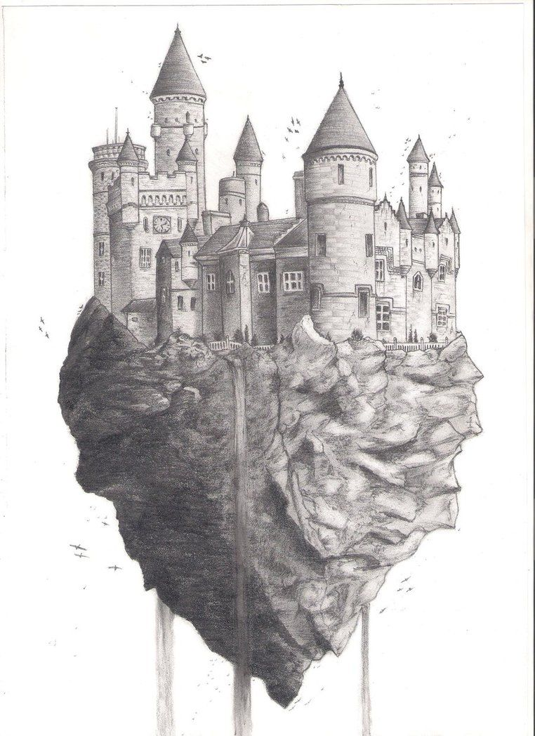 flying castle by zealot123 on deviantART | Castle drawing ...