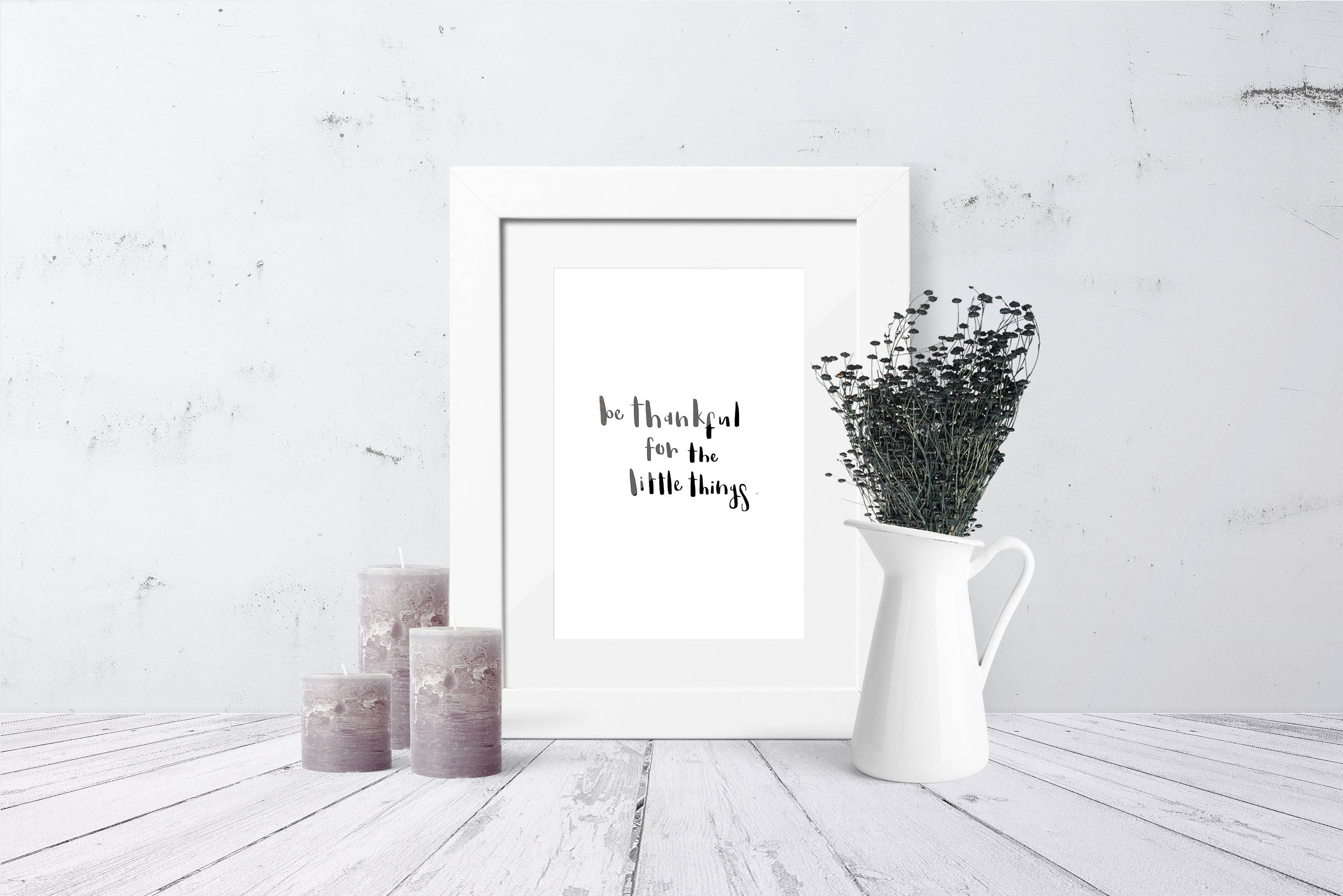 Items Similar To Positive Affirmation Wall Decor Print Be Thankful For The Little Things Positive Quote Print Gallery Wall Decor On Etsy Calligraphy Print Motivational Wall Art Gallery Wall Decor