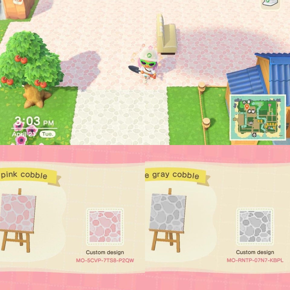 Animal Crossing: New Horizons New Tiles, Streets, Wood Steps And Paths QR Codes, Custom Designs April 2020