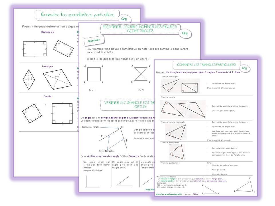 Leçons géométrie CM2 - la classe de stefany | Géométrie cm2, Géométrie et Maths cm2