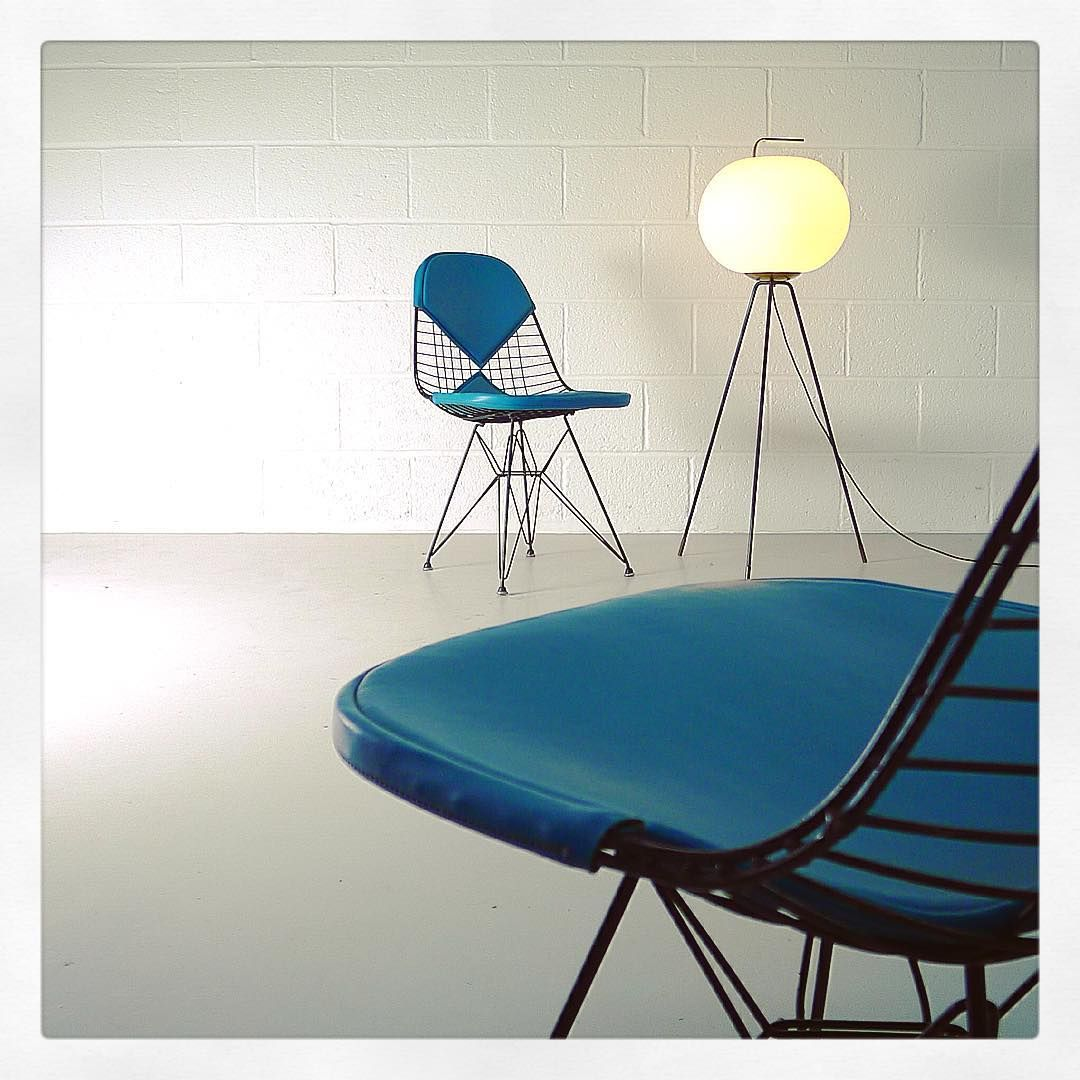 "20cmodern: "" zigzagmodernPair of Eames Eiffel Tower chairs , DKR-1 ..."
