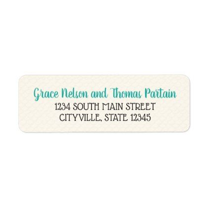 Sea-Foam Serenade Return Address Labels - summer gifts season diy