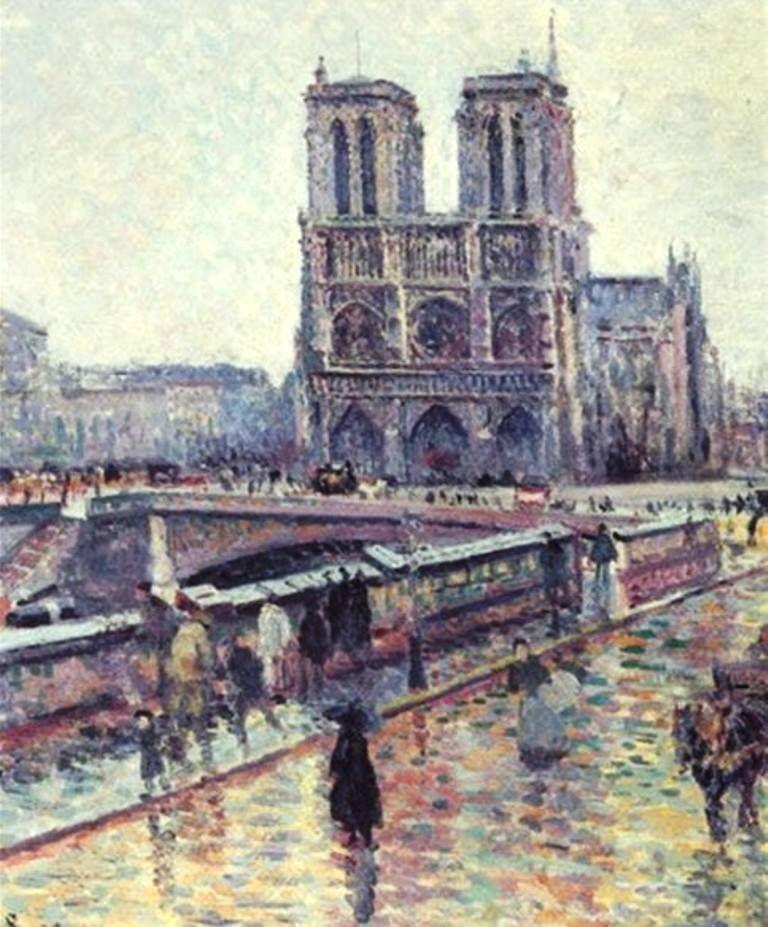 Maximilien Luce Bords De La Seine Avec Notre Dame Sous La Pluie