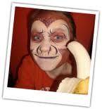 monkey face paint - Google Search