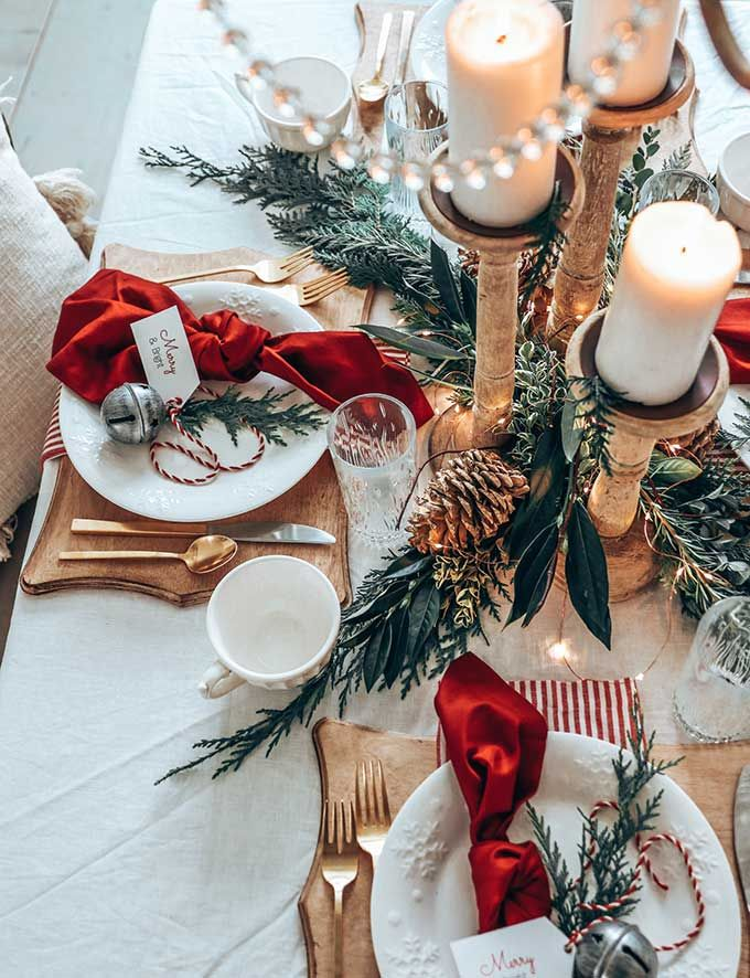 Photo of Easy Christmas Table Setting with Red – Hallstrom Home