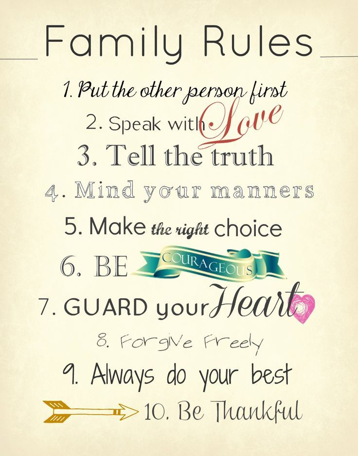 10 Family Rules To Keep In Mind | Best family quotes, Family ...