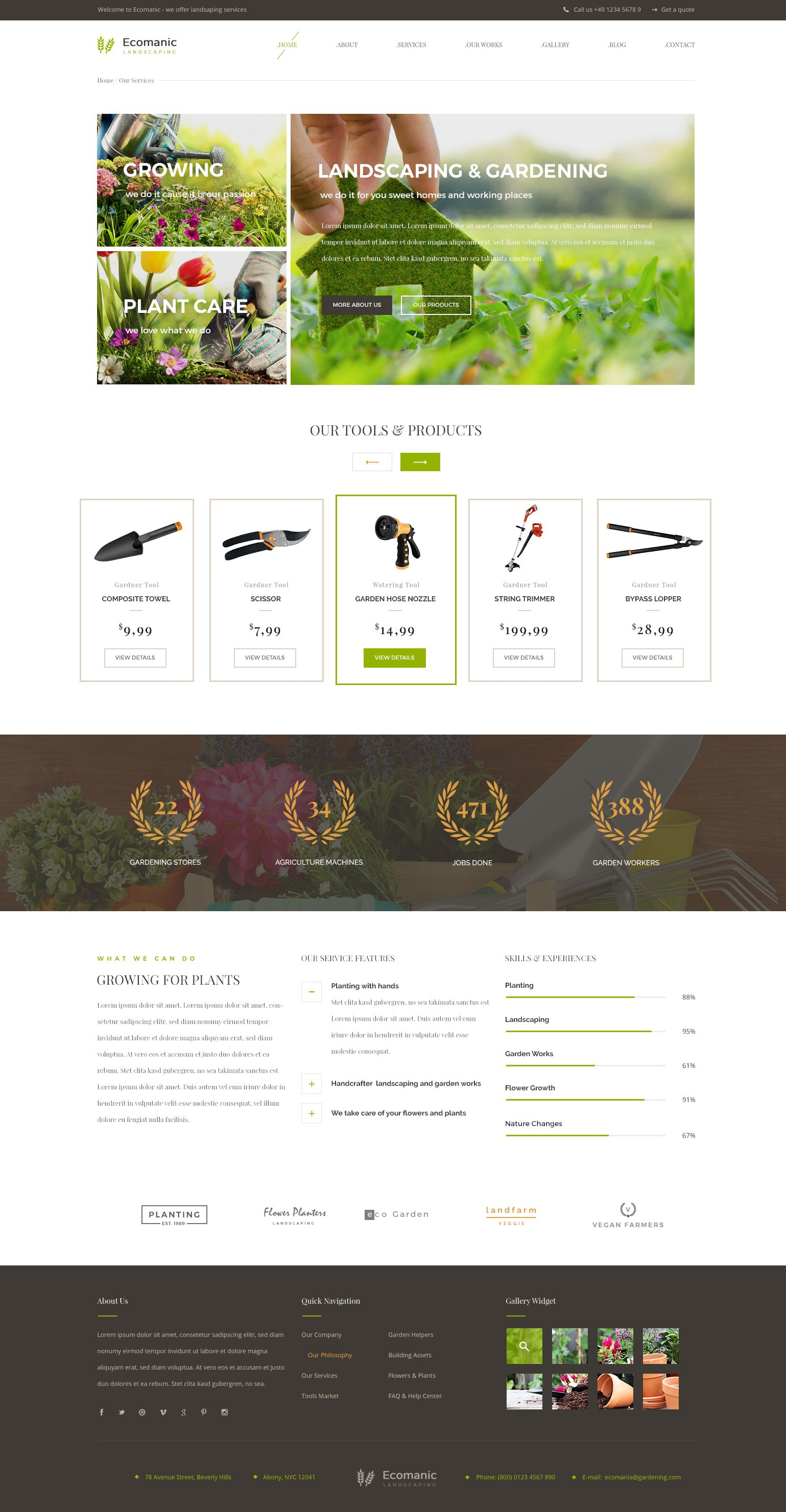 Ecomanic Gardening And Landscaping Html Template Gardening