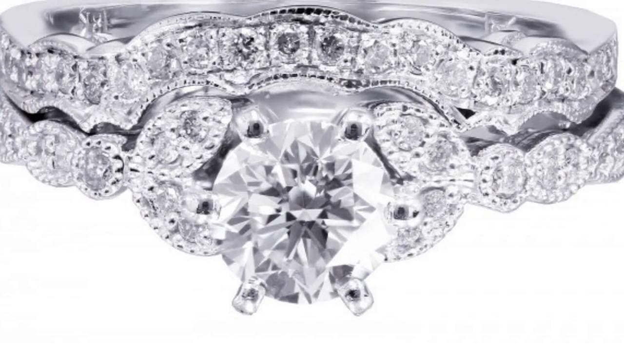 Engagement ring sets designsbyknr knr inc pinterest
