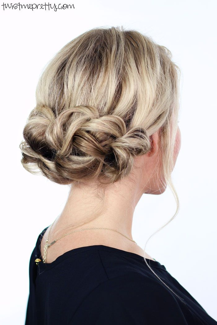 Gorgeous holiday updo. It's simple and elegant and it'll take you less than ten minutes! Come watch the easy to follow video tutorial.