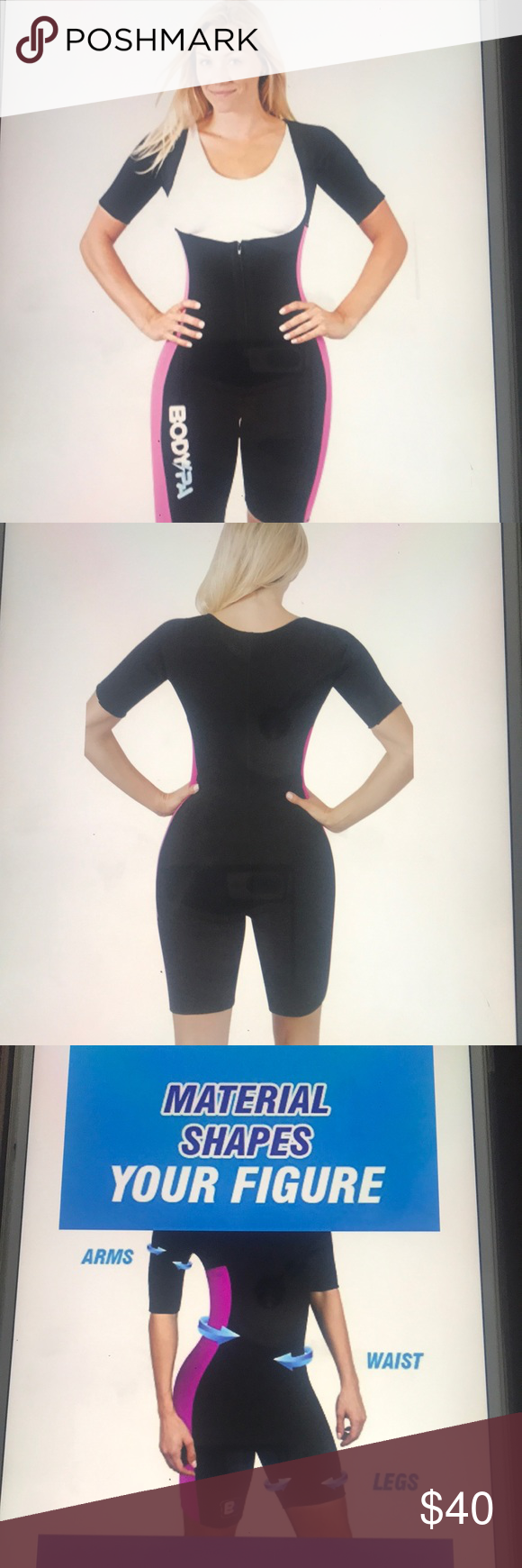 Spa Light Body Sauna Suit Full Body Shaper Light material and very comfortable.  Perfect to wear during any workout or just to wear under your clothes doing everyday activities. You will sweat more than usual increase your body heat and metabolism.  Detoxify your immune system.  Burn more calories. Never been worn Bodyspa Other