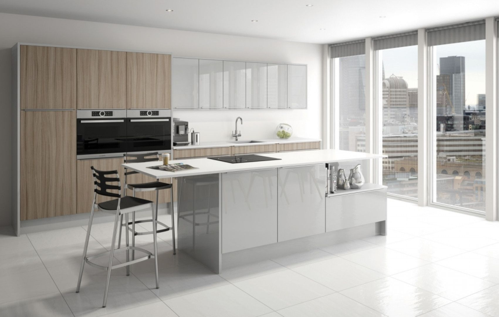 Grey Mist finish with contrasting driftwood effect | Contemporary ...
