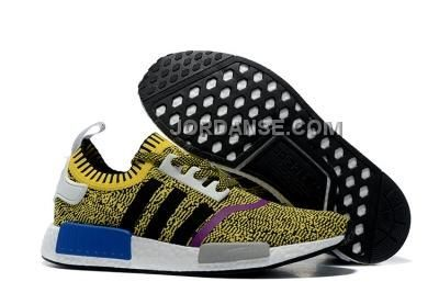 / adidas nmd runner pk uomini donne giallo nero nuova