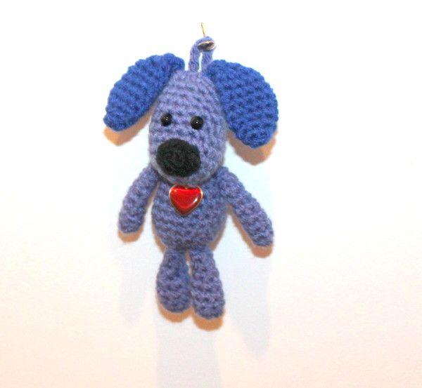 Schlüsselanhänger Hund Häkelanleitung | Hund dog crochet | Pinterest ...
