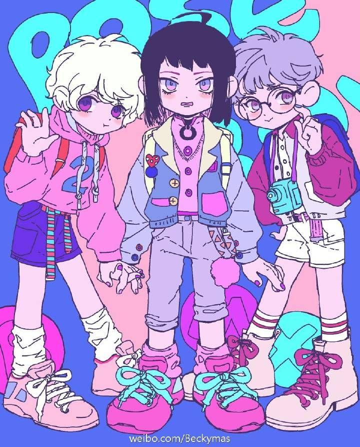 Pop Style Friendo Friends Illustration Art Art Anime Art